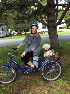 Me & my furbaby (Maggie) ready to roll!